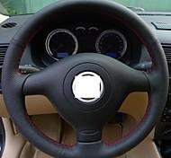 Cubierta del volante del cuero genuino Xuji ™ para Volkswagen Golf 4 VW Golf 4 Mk4 Santana 2000 3000