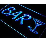 Bar Cocktail Cup Arrow Beer Pub Neon Light Sign