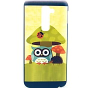 Mushroom Owl Cartoon Pattern Hard Case for HTC G2/D801 Magic