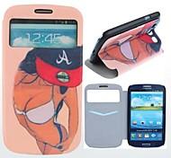 Schönheit des Körpers Clamshell Muster PU-Leder-Kasten mit Ganzkörper-Card Slot für Samsung Galaxy S3 I9300