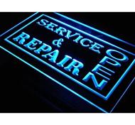 i108 OPEN Service & Repair Shop Neon Light Sign