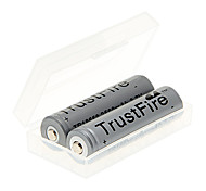 TrustFire 2500mAh 18650 Battery (2pcs) + 2pcs/Lot Hard Plastic Battery Storage Box