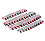 Simple Black Lip Print Pattern Motorcycle Protector Trim Sticker (4 Pcs Kit)
