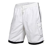Men's Polyester Black White Surf Beach Short