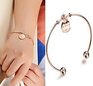 Trend Fashion Plutus Totoro Blasting in Titanium Plating Rose Gold Bracelet