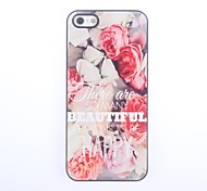 To Be Happy Design Aluminium Hard Case for iPhone 5/5S