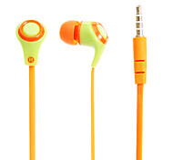 V27 Noodle Shape 3.5mm In-Ear Bass Stereo Headphones with Mic for Samsung&iPhone&Sony&HTC Cell Phones&Tabs