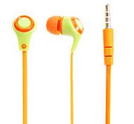 V27 Noodle Forma 3,5 milímetros In-Ear Headphones baixo estéreo com microfone para Samsung e iPhone e Sony e HTC Telefones & Celulares Tabs