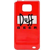 Patrón Duff Beer estuche rígido para Samsung Galaxy S2 i9100