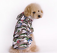 Dog Coat Green Dog Clothes Winter Camouflage