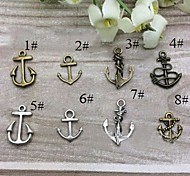 Eruner®18*15MM Alloy Anchor Charms Pendants Jewelry DIY (10PCS,Assorted Colors)