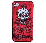 Coway Fashion Skull Printed Mobile Phone Shell Case for iPhone 4/4s