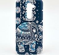 Flower Tribal Carpet Elephant Pattern Hard Case for HTC G2/D801 Magic
