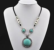 Toonykelly ® Vintage Tibet d'antiquariato della lega del turchese della collana (verde) (1 Pc)