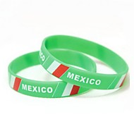 Mexico Flag Pattern 2014 World Cup Silicone Wrist Band