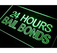 Bail Bonds 24 Hours Neon Light Sign