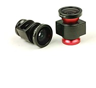 3 in 1 Lente Gran Angular / Macro Lens/180 Fish Eye lente del kit para el iPhone 4 / 4S