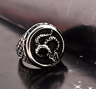 Vintage  Men's  Stainless Steel Shake Ring