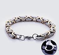 Personalisierte Geschenke Handgefertigte Edelstahlschmuck Gravur Chain Link Armbänder 0,8 cm Breite