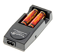 TrustFire 3000mAh 18650 Battery(2pcs) with Overcharge Protection + TrustFire TR-001 Battery Charger