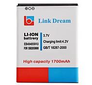 Lien Dream High Quality 3.7V 1700mAh batterie de téléphone portable pour Samsung M930 S5820 T589 T759
