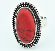 Anillo Ajustable Mujer Turquesa Vintage (Red) (1pcs)