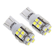 T10 20SMD White Light LED for Car Light Bulb (2pcs)