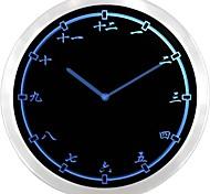 nc0955 Chinês Japonês numerais Kanji do sinal de néon LED Relógio de parede