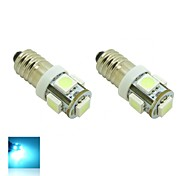 E10 1W 5X5050 SMD Quarz Blue Lights LED-Lampe für DIY (DC 12V, 2-Pack)
