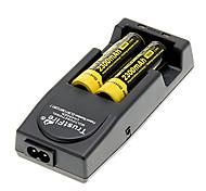 NITECORE NL183 2300mAh 18650 (2 piezas) + TrustFire TR-001 Cargador de batería + 2 PC / Lot de plástico duro de almacenamiento Caja de la batería