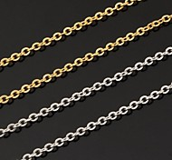 U7® 18K Real Gold Plated Link Chain Choker Necklace for Pendant Adjustable 2.7MM 20Inches 50CM