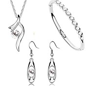 Timesong Elements of Austrian Crystal Necklace Earrings Bracelet Accessories Three-piece Suit (1SET)