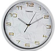 """Timess™ 12""""H  Pattern Super Mute Metallic Wall Clock"""