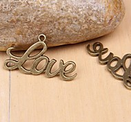 Eruner®40*22MM Alloy Love Charms Jewelry DIY(5pcs)