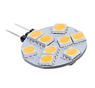 G4 2.5W 3200K 117lm 9x5060SMD LED Warm Light Household Lighting Lamp - (8~30V)