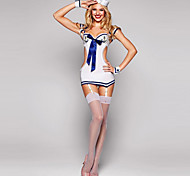 Hot Sexy Sailor Mini Uniforme de disfraces de Halloween y sombrero (4pieces)