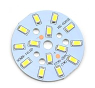 MaiTech 7W 705lm 14-SMD 5730 LED White Light Bulb Aluminum Plate