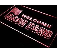 Welcome Race Fans Car Decor Neon Light Sign