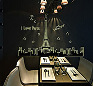 Eiffel Tower Fluorescence Pattern Wall Sticker(1PCS)
