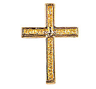 Gold Rhinestone Cross DIY Charm for Bracelet(10PCS Per Package)