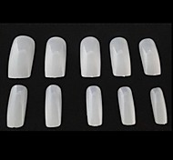 10x50pcs tamaño mixs consejos de arte completa de la uña natural