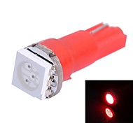 GC® T5 0.25W 14LM 1x5050SMD LED Red Light for Car Indicate Light Lamp (DC 12V)