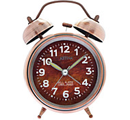 Vintage gêmeas Sinos Alarm Clock (Bronze, 1xAA)
