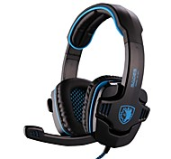 SADES SA901 High Quality 7.1 Channel Surround Sound Gaming Headset Headphones with Microphone for PC Game (Blue/Red)