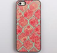 Elegante Blumen-Muster Aluminium Hard Case für iPhone 4/4S