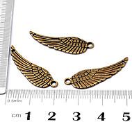 Vintage beliebten handmade DIY wenig Flügel Bronze-Legierung Armband Zugehörigkeit (10 Stück)