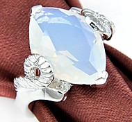 Quartz Moonstone vin classique Gemstone Silver Ring 1PC
