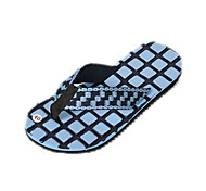 Quiksilver Men's Beach Sports Check Pattern Blue Flip Flops
