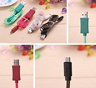 Data Sync Micro USB / Carga de iluminación de cable para Samsung/HTC/Nokia/MX3 (100cm)