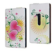Flowers and Love Pattern PU Leather Full Body Case for Nokia Lumia 920/N920